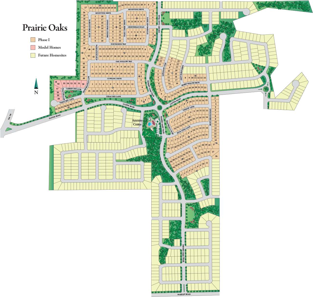 Prairie Oaks Overall Community Siteplan